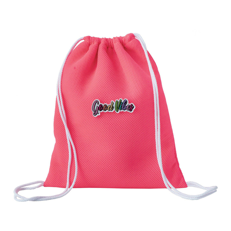 pink drawstring backpack waterproof kids