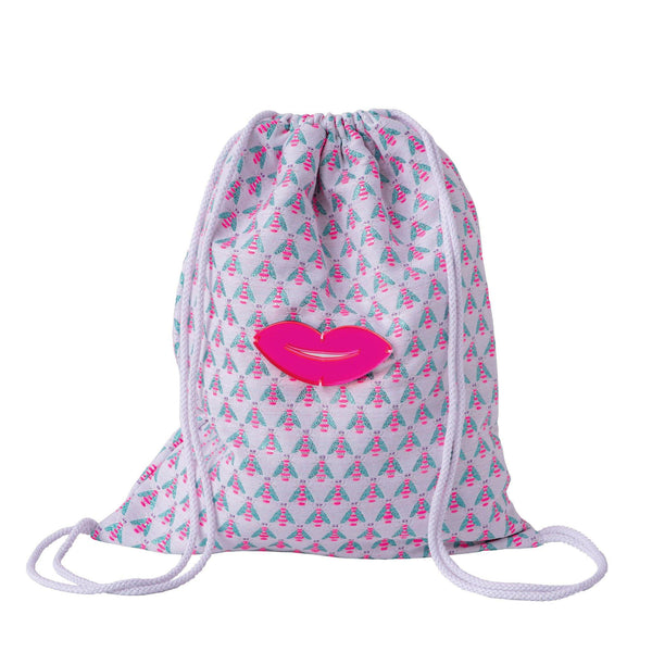 Bees drawstring backpack kids waterproof