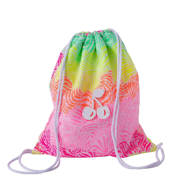 floral drawstring backpack waterproof kids