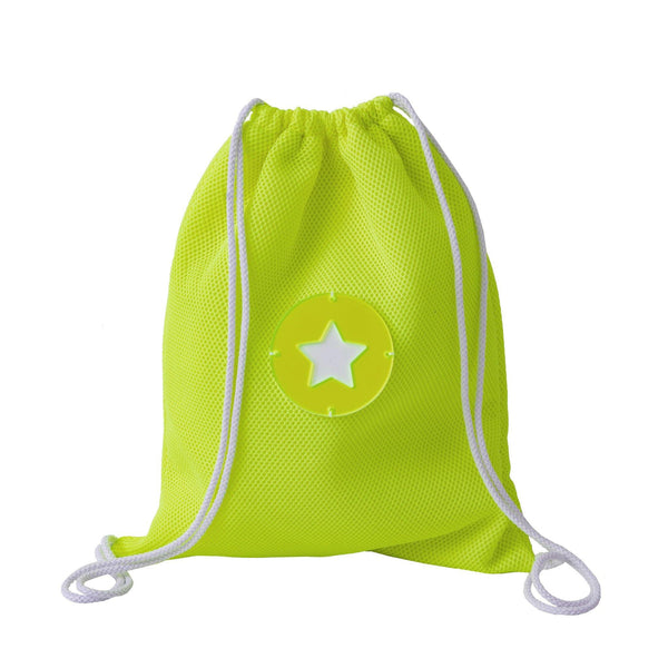 Tate | Drawstring Backpack Yellow Fluo Whitezoom