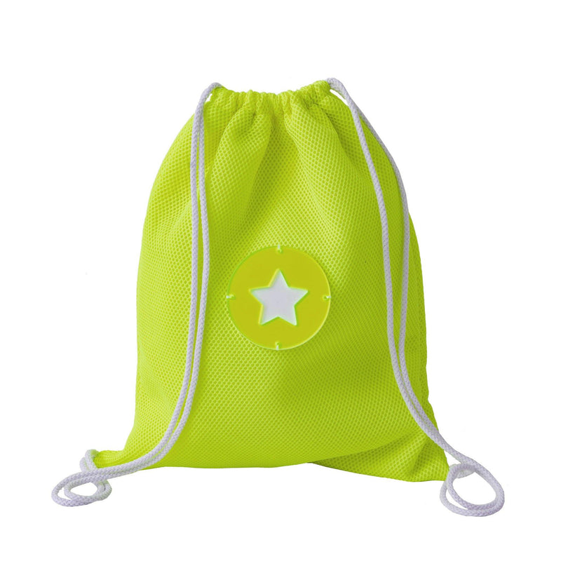 Tate | Drawstring Backpack Yellow Fluo Whitezoom - KOKU Concept