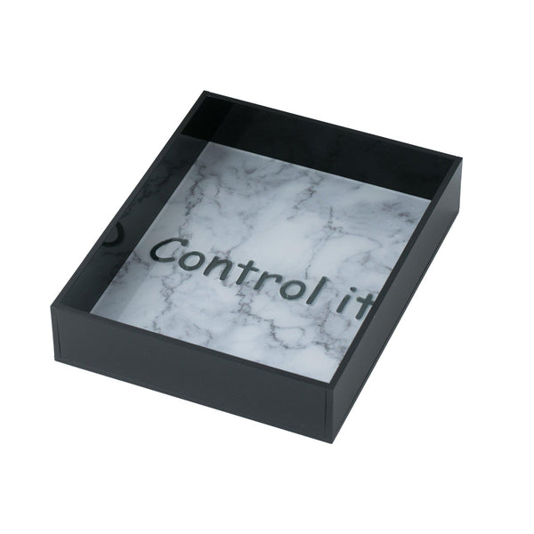 "TIVO Tray ""Control It marble"""
