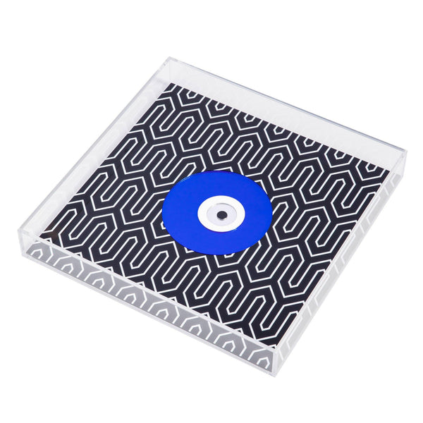 plexiglas tray printed evil eye