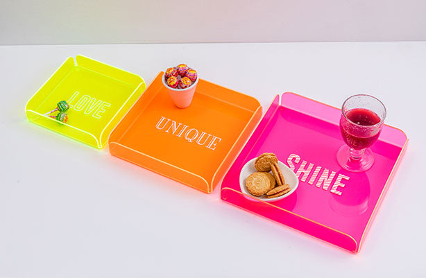 TRIPLE SET Trays |  Fluo Dreams