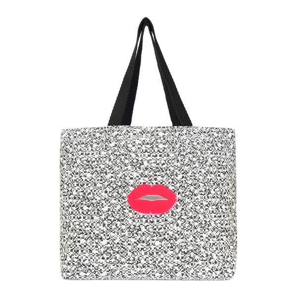 URBAN Tote Bag | Black Maze Lips