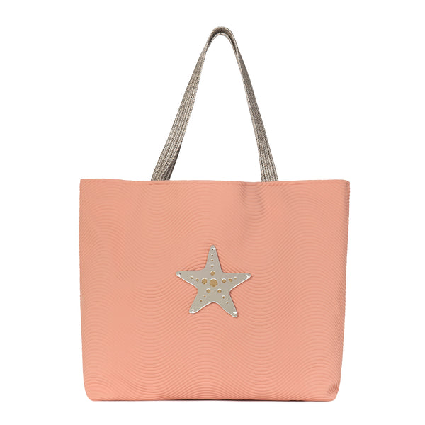 large tote bag waterproof spring summer collection 2021 acrylic motif starfish-KOKU CONCEPT