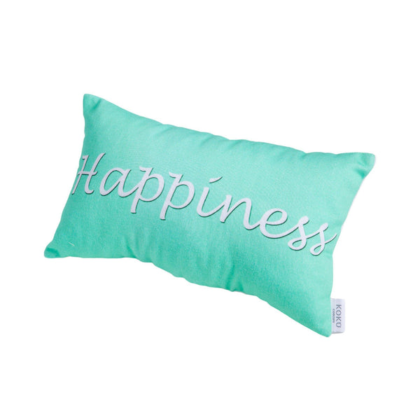 FABRIC WISH PILLOW | HAPPINESS MINT