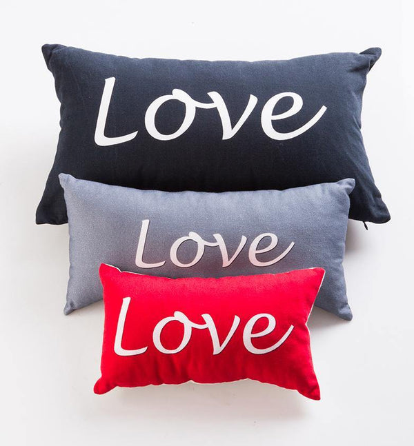 FABRIC WISH PILLOW | Love Collection Black