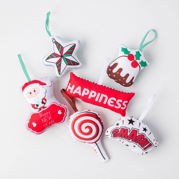 FABRIC FUN TREE ORNAMENTS