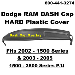 02-05 Dodge Ram Main Dash Cap Overlay Hard Plastic Cover