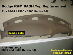 Dodge Ram Dash Top Replacement Fits 98-02 Saddle Tan Color FREE Shipping !
