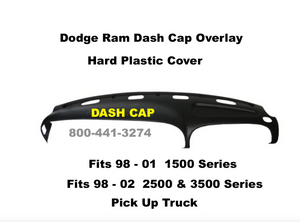 Dodge Ram Dash Cap Overlay Hard Plastic Cover Fits 98-02 Pick Up Truck FREE Shipping
