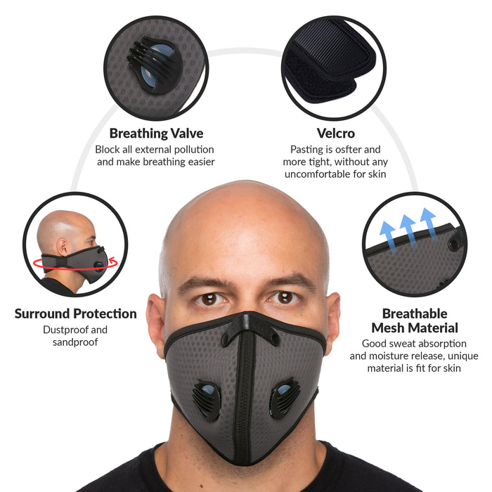 debrief me dust mask anti pollution breathable respirator mask