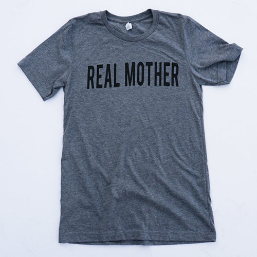 Heather Grey Real Mother T-shirt