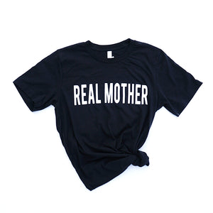 Vintage Black Real Mother T-shirt