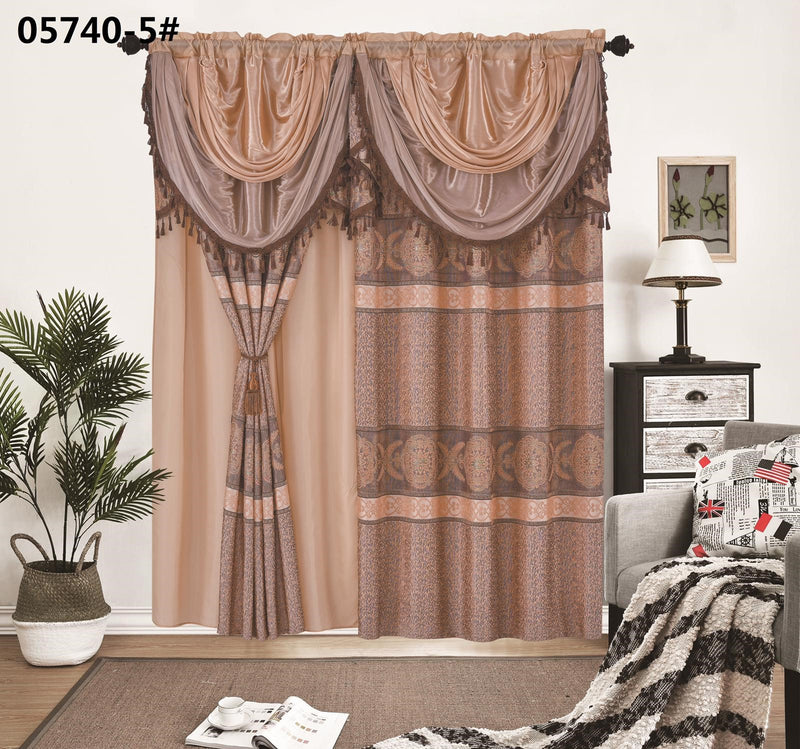 "Deluxe Window Curtain - European Style 2 Panels 53""x 84''"