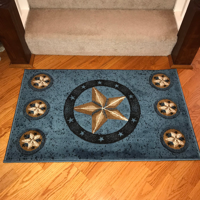 Western Texas Star 3 Star Rustic Lodge Area Rug