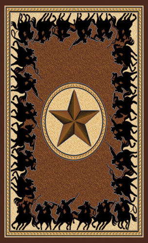 Texas Star Western Lodge Chocolate Area Rug