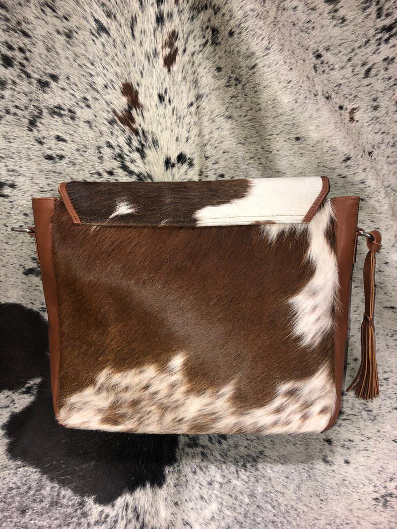 Brown & White shoulder Bag