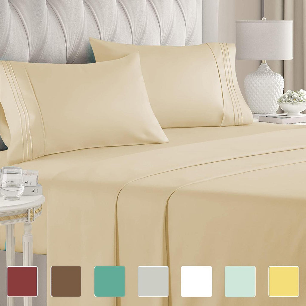 4pc Egyptian Comfort Sheet Set - 2200 Series