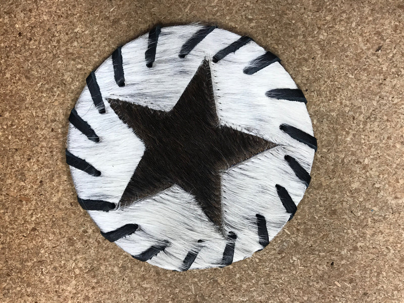 Cowhide Star Coasters
