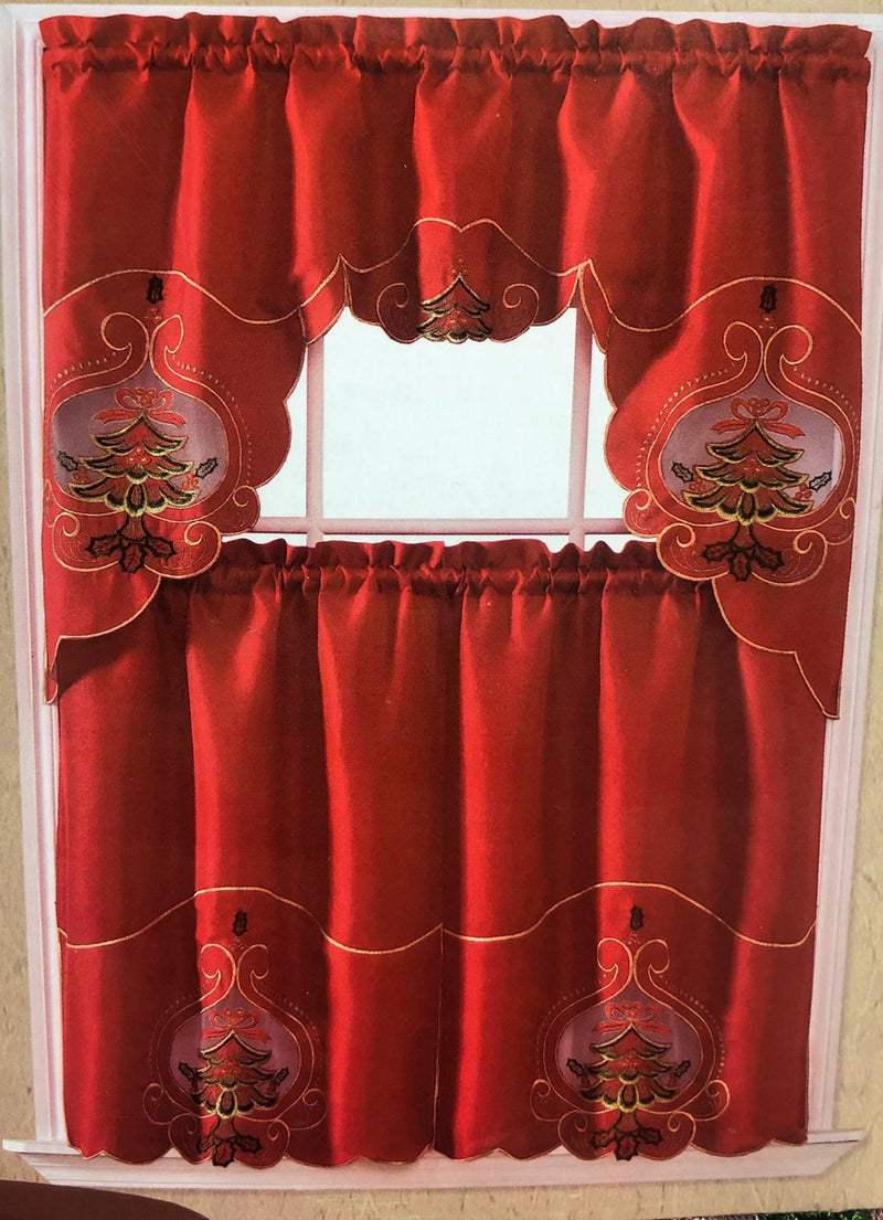CHRISTMAS KITCHEN CURTAIN