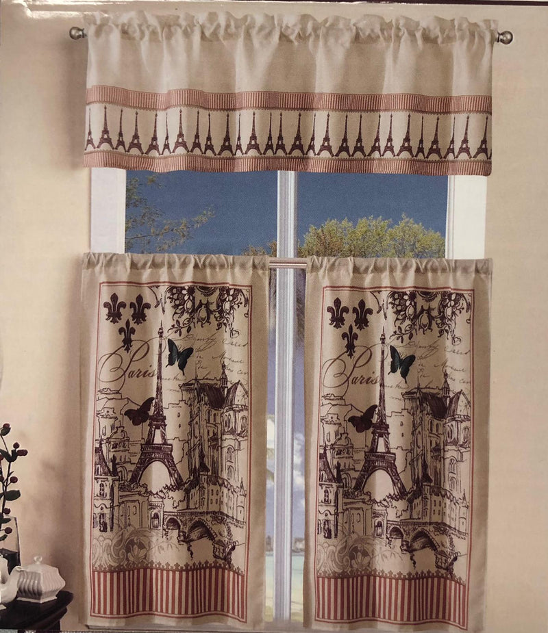 PARIS KITCHEN CURTAIN SET