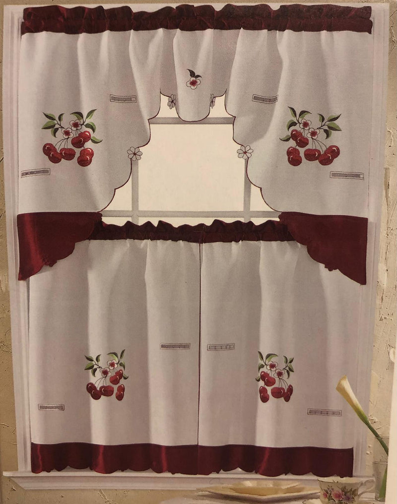 CHERRIES KITCHEN CURTAIN
