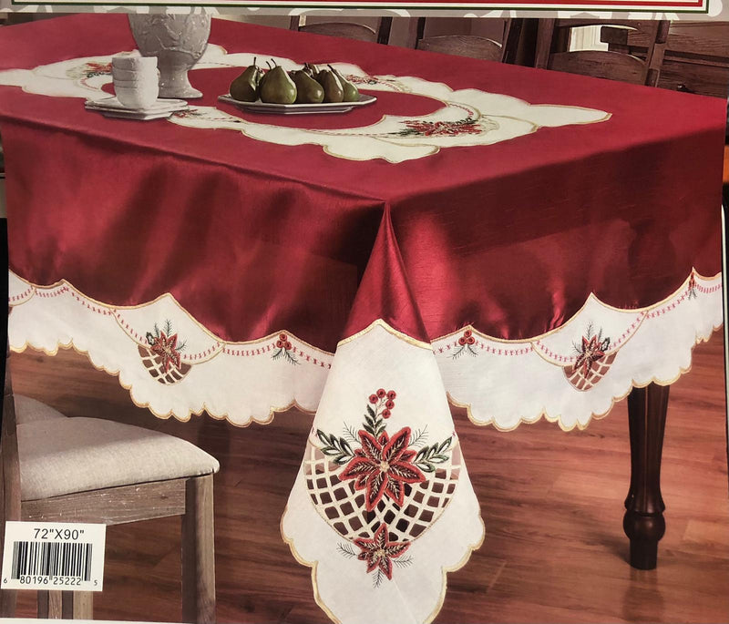 CHRISTMAS FLOWER TABLE CLOTH