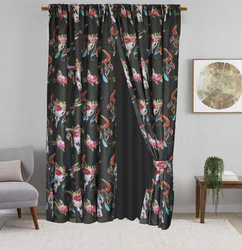 Skull Western Curtains
