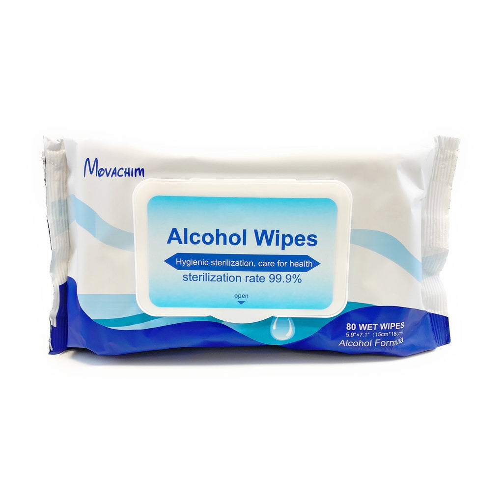 MOVACHIM STERILIZING SKIN SAFE ALCOHOL WIPES - 80 Wipes