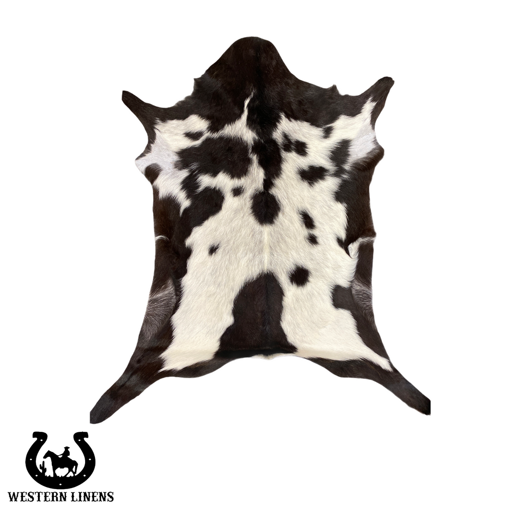 Exotic Black & White Goat Hide - Approx 2-4 feet big #00G18