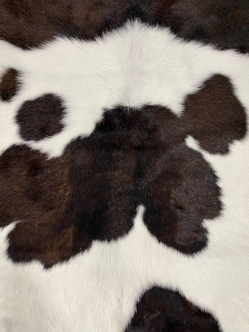 Dark Chocolate & White Calve Hide