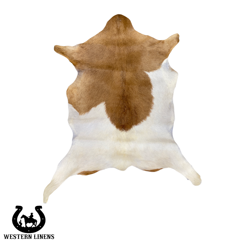 Brown & White goat Hide - Approx 2-4 feet big #00G14