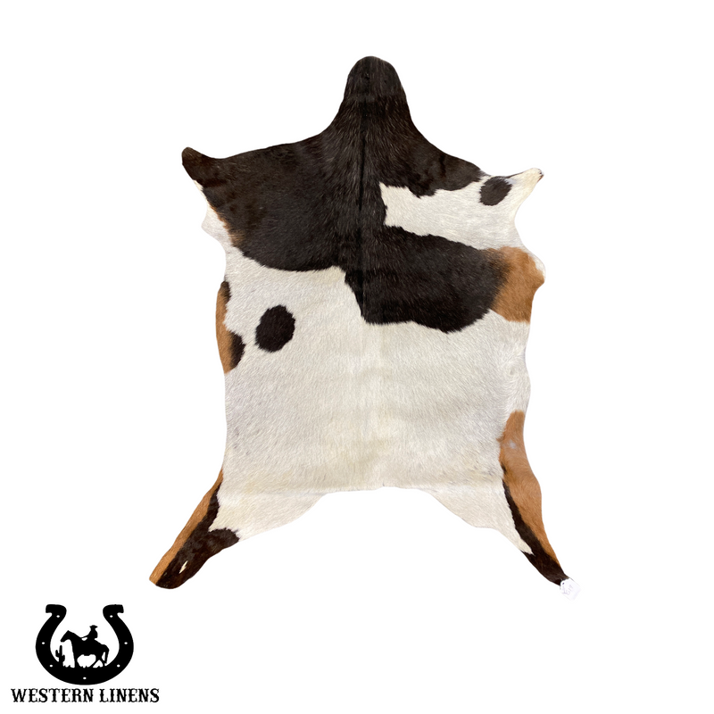 Tricolor Brown & White Goat hide - Approx 2-4 feet big #00G19