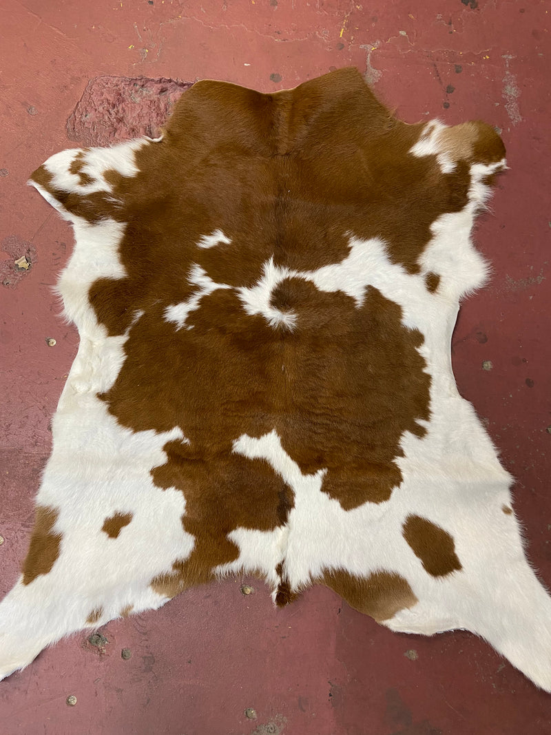 Brown & White Calve Hide