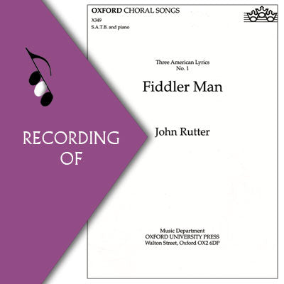 FIDDLER MAN (No. 1 of Three American Lyrics)