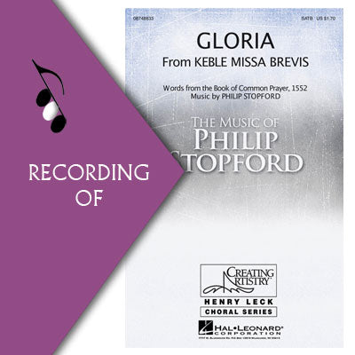 GLORIA (from Keble Missa Brevis)