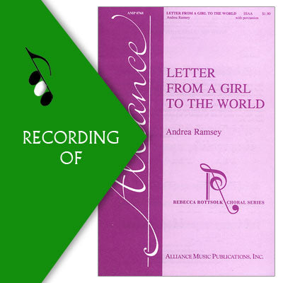 LETTER FROM A GIRL TO THE WORLD