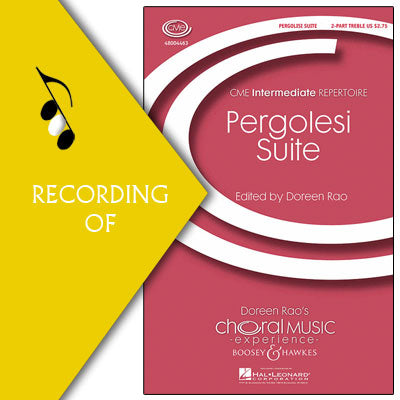 PERGOLESI SUITE (INFLAMMATUS ET ACCENSUS and QUANDO CORPUS)
