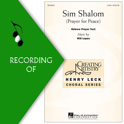 SIM SHALOM (Prayer for Peace)