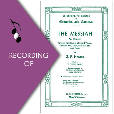 MESSIAH -Selected Choruses (Major Work)