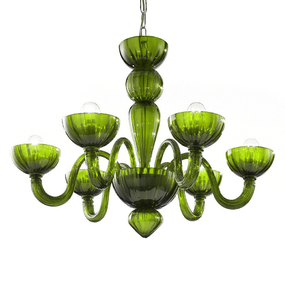 Murano Glass Chandelier Green - distributed by Argento Dubai
