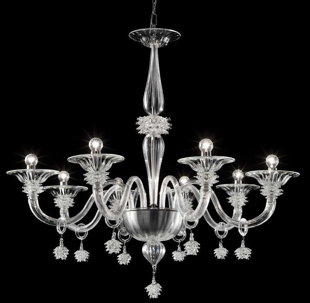 Murano Glass Transparent Ice Chandelier - Argento Dubai