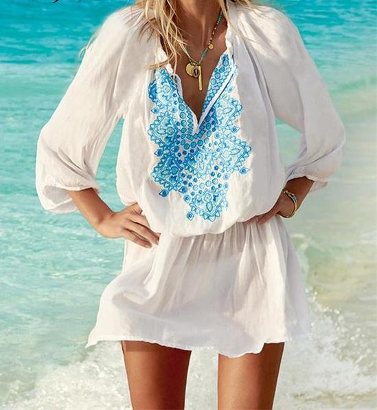 tunic beach dress embroidery