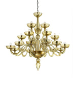 21 arms chandelier amber Made in Italy - Argento - Dubai