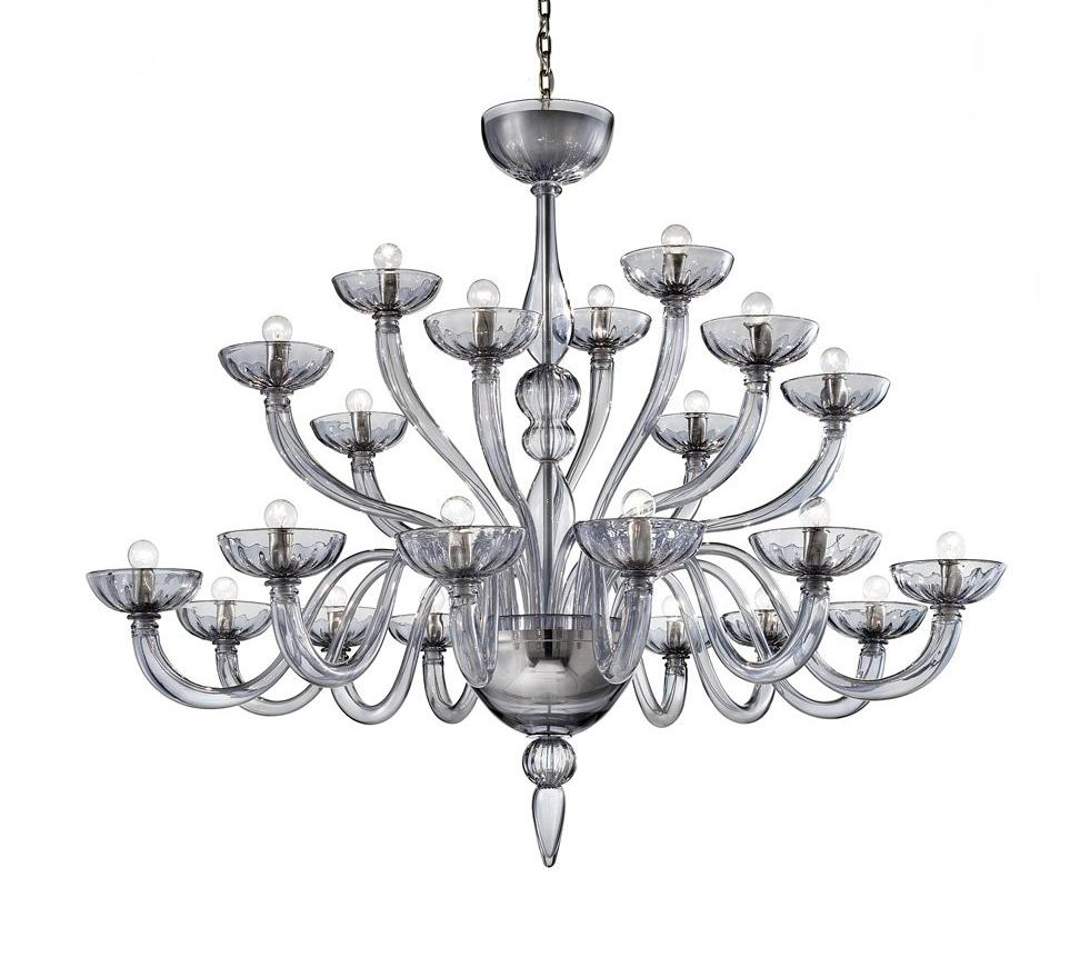 Venetian Glass Chandelier Multi Arms Fume'