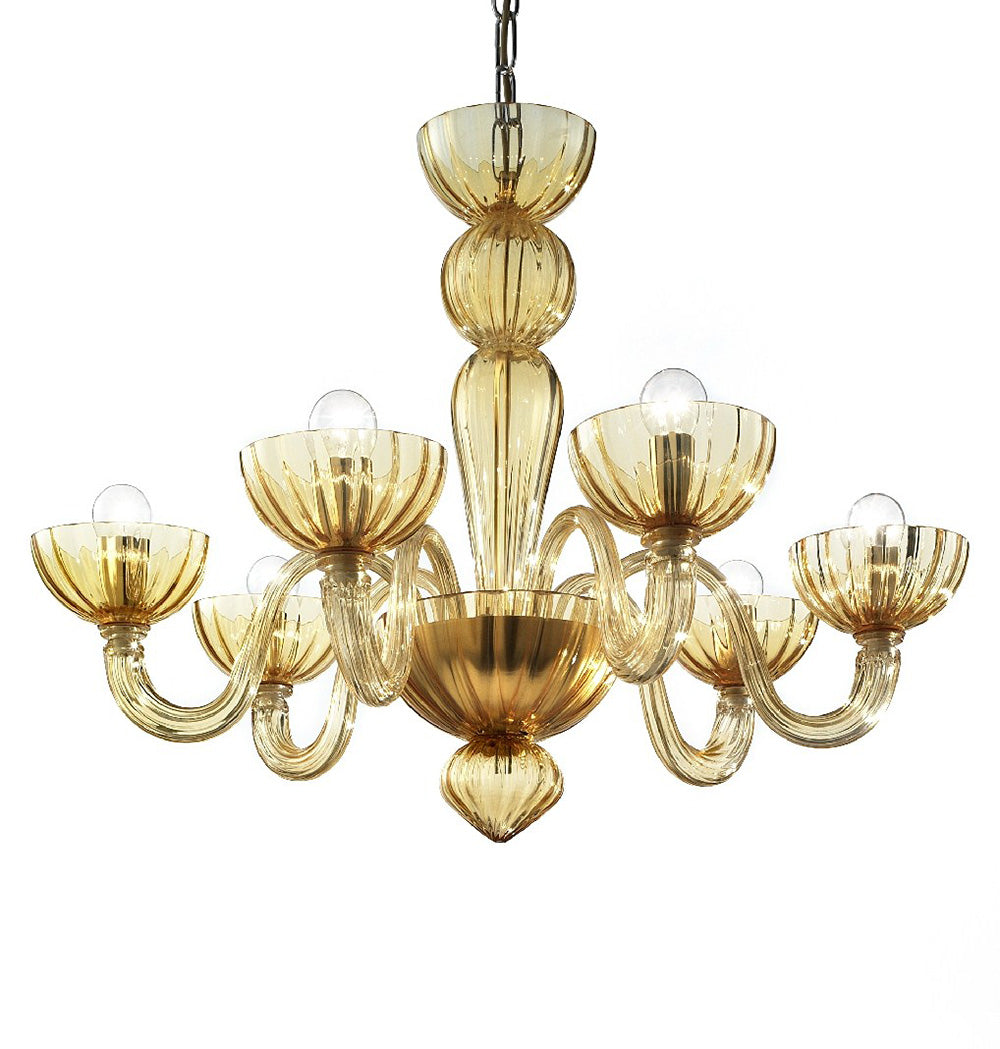 Murano Glass Chandelier Amber - distributed by Argento Dubai