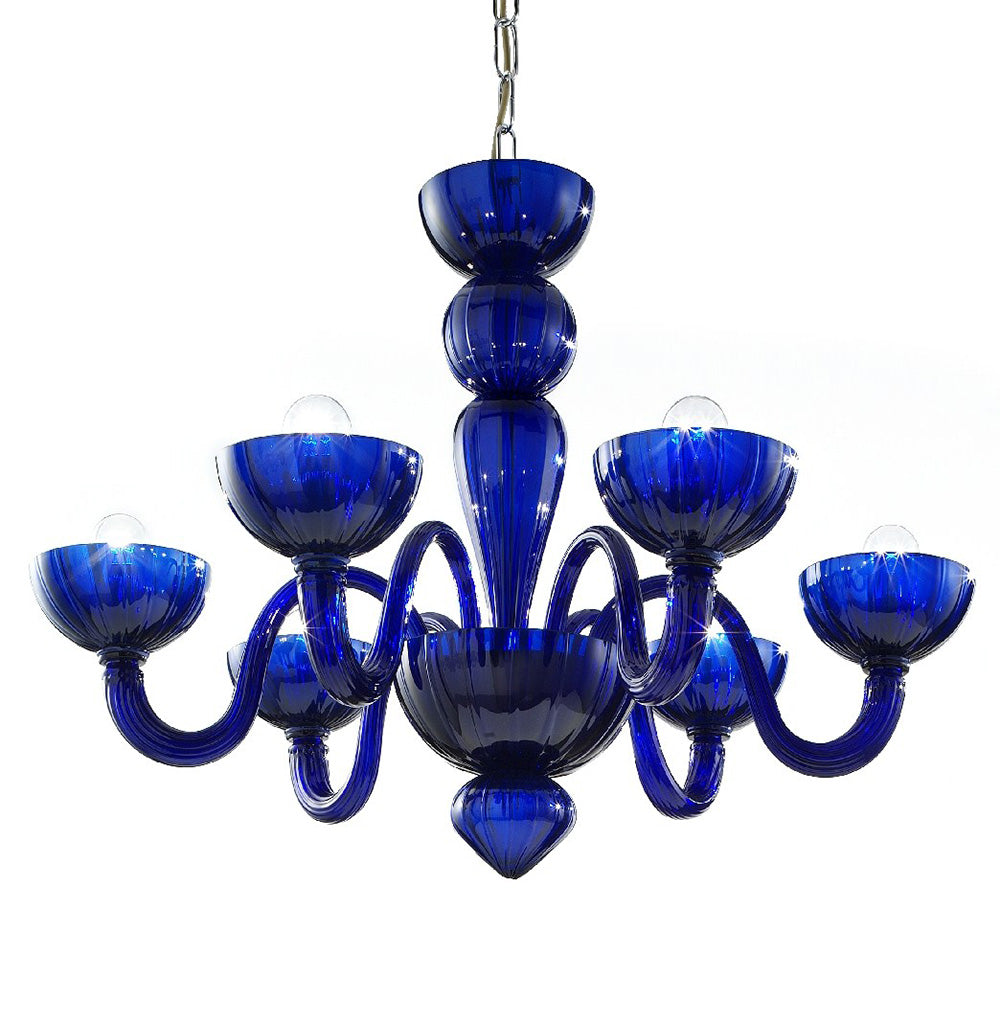 Murano Glass Chandelier Blue - distributed by Argento Dubai