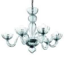 Murano Glass Chandelier Transparent Clear - distributed by Argento Dubai